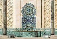 HD 7x5ftビニールモスク風景背景背景ハッサンIIモスク写真の背景の詳細宗教的な信念子供大人の肖像画写真スタジオの小道具