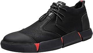 Gelentea - Sneaker da uomo in pelle PU con lacci, traspirante, casual, per attività all'aria aperta, scarpe da ginnastica ...