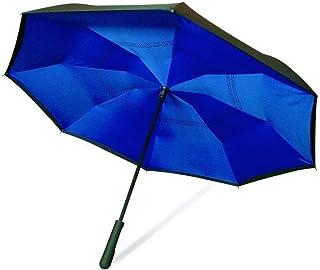 ワンダードライ アンブレラ 青 ブルー 逆さ傘 濡れない 長傘 ジャンプ傘