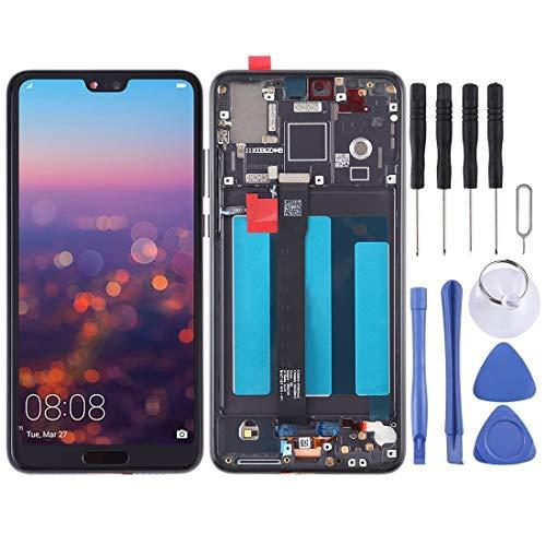 ZHUHAI vervangende display LCD-scherm en Digitizer volledige montage met frame voor Huawei P20 (zwart) scherm vervangende kit + volledige reparatie gereedschap, Zwart