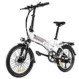 Vivi Bicicleta Eléctrica Plegable, 20 Pulgadas Bicicleta Eléctrica para Adultos, 250W Ebike con Batería Litio Extraíble de 36V 8Ah, Engranajes Profesionales de 7 Velocidades
