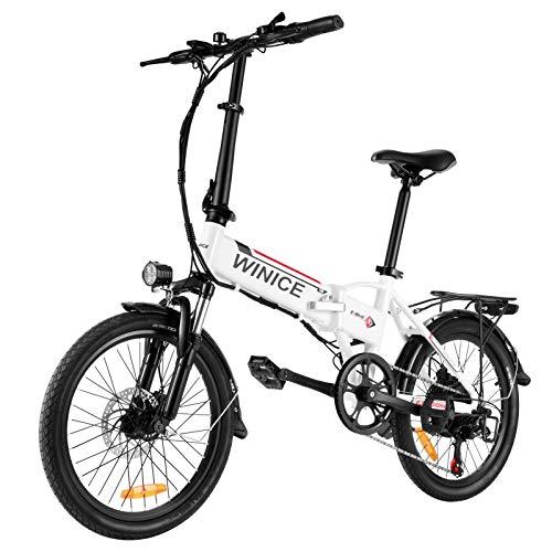 Vivi Bicicleta Eléctrica Plegable, 20 Pulgadas Bicicleta Eléctrica para Adultos, 250W Ebike...