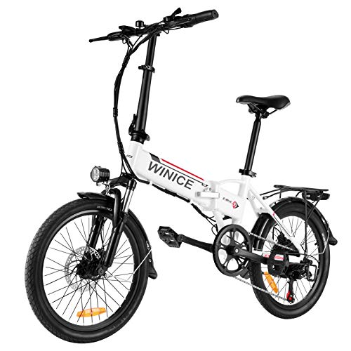 Vivi Bicicleta Eléctrica Plegable, 20 Pulgadas Bicicleta Eléctrica para...