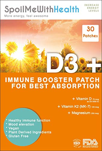 SpoilMeWith Health: Vitamin D3 Plus Patches. 30 Week Supply