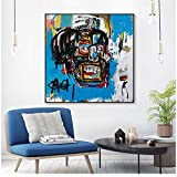YaShengZhuangShi Impresiones Canvas Art Graffiti Abstract Style Decor Black Peron Posters and Painting Poster, Wall Pictures For Living Room, Home Decor80x80cm Sin Marco