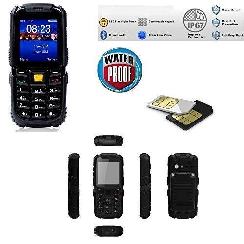 Telefono Cellulare da Lavoro Impermeabile Waterproof IP67 Dual Sim / Protezione Anticaduta 2 Metri