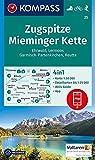 KOMPASS Wanderkarte Zugspitze, Mieminger Kette, Ehrwald, Lermoos, Garmisch-Partenkirchen, Reutte: 4in1 Wanderkarte 1:50000 mit Aktiv Guide und ... 1:50 000 (KOMPASS-Wanderkarten, Band 25)