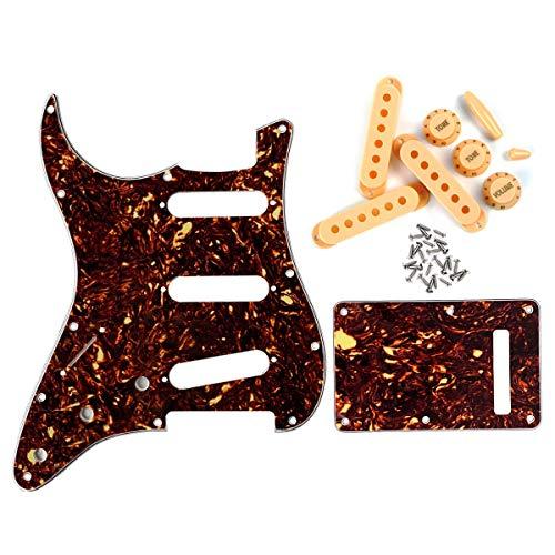 FLEOR Juego de placas traseras para guitarra, estilo SSS para zurdos, con...