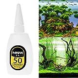 ECMQS Pegamento adhesivo para plantas de agua, hierba, musgo, acuario, coral, decoración instantánea