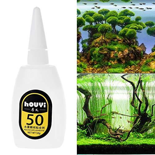 ECMQS Wasser Pflanzen Gras Moos Klebstoff Kleber, Aquarium Koralle Dekoration Sofortig Rock Kleben