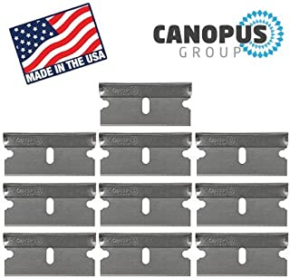 Single Edge Industrial Razor Blades, Box Cutter Replacement Blades, Glass Scraper Razor Blades (10 Pieces) - Fits ALL Standard Tools -%100 Made in USA