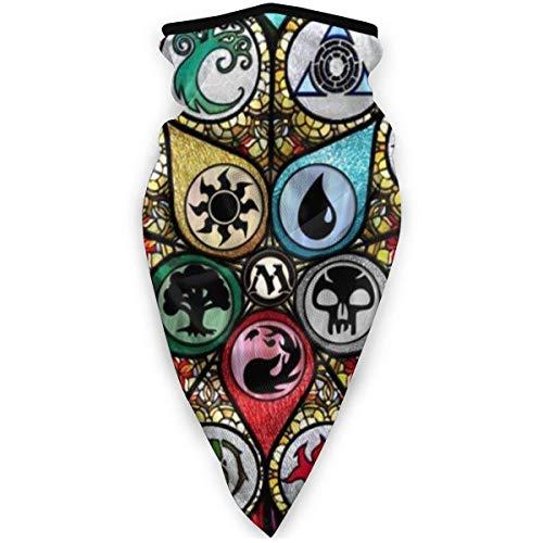 Perilla Fire Magic The MTG Gathering - Máscara deportiva resistente al viento, antiviento, para hombre y mujer, color negro