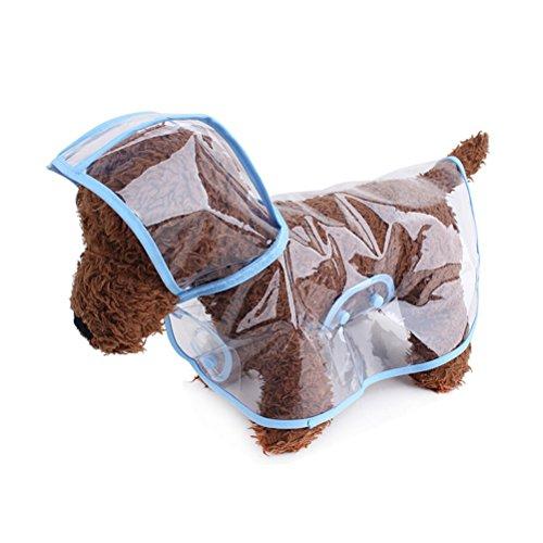 LUOEM Tierische Regenmantel Hund Regen Mäntel wasserdichte Welpen Regenmäntel für kleine Hunde Katzen Größe L blau