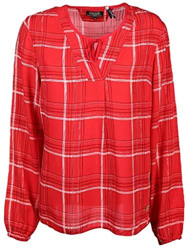 soquesto Damen Bluse Größe 36 EU Rot (rot)
