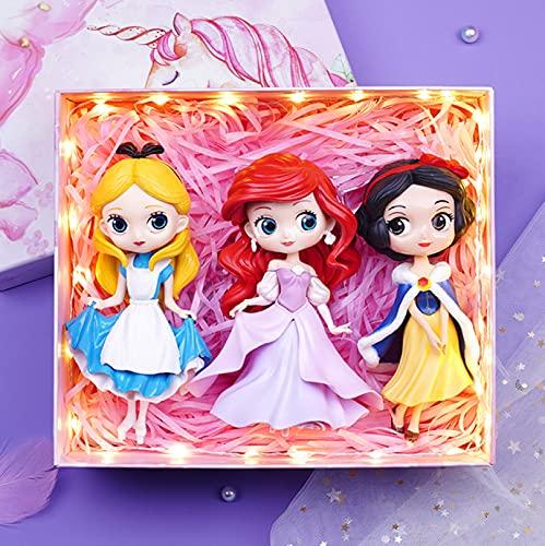 3 Piezas 14 Cm Juguete Congelado Cenicienta Elsa Ariel Princesa Figuras PVC Modelo Princesa Juguetes para Niñas Niños Juguetes Regalo