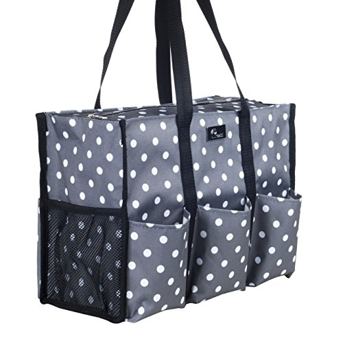 Pursetti Teacher Bag with Pockets - Perfect Gift for Teacher's Appreciation and Christmas (Pop Lights)