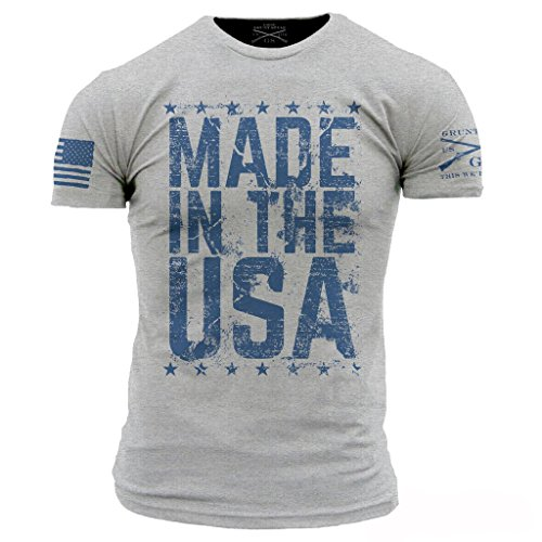 Grunt Style Made in The USA Men's T-Shirt, Color...