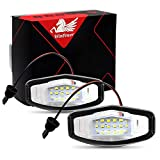 WinPower LED Luces de matrícula para coche Lámpara Numero plato luces Bulbos 3582 SMD con CanBus No hay error 6000K Xenón Blanco frio para Civic/City 4 puertas/Legend/Accord 4 puertas etc, 2 Piezas