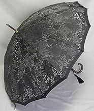 前原傘 ブランド レディース 長傘 婦人用 雨傘 皇室御用達 前原光榮商店「前原傘 絣 ジャカード織 菊柄 ブラック 縁」