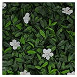 Milltown Merchants Artificial Hedge - Outdoor Artificial Plant - Great Boxwood and Ivy Substitute - Sound Diffuser Privacy Fence Hedge - Topiary Greenery Panels (12, White Cuckoo Flower)