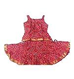 Spack Jerrow Baby Girl Skirt Top Cotton Chunri Printed (1-2 year), Red