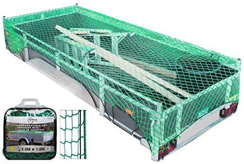 Anhängernetz Dehnbar Elastisch Gepäcknetz für PKW Anhänger 3,0 X 1,6 Meter