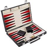 Engelhart Set da Backgammon Rosso Bianco e Nero 36 cm