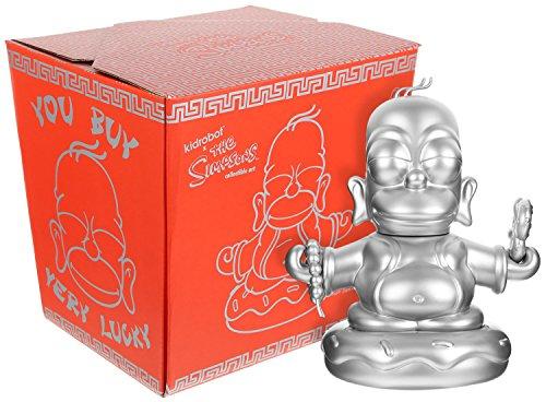 The Simpsons Silver Homer Buddha ~7' Kidrobot x Vinyl Figure