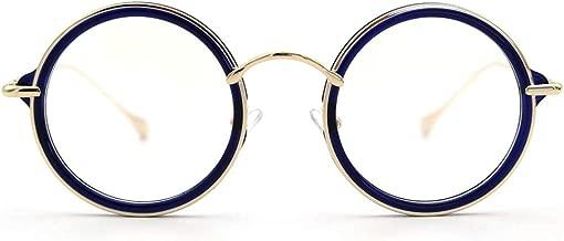 LR ROUND BLUE LIGHT BLOCKING GLASSES,UV Filter Lens Eyestrain Glasses for Computer Use 58080