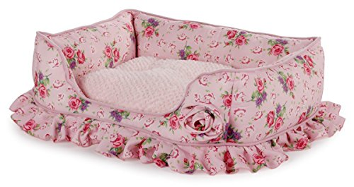 ALL FOR PAWS AFP4714 Hundebett, Shabby Chic, M, Rosa
