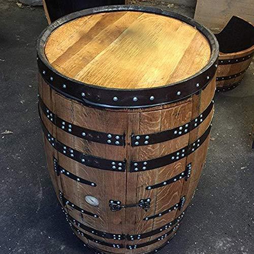"""Getränkeschrank/ Weinregal, aus einem recyceltem Fass der Marke Jack Daniels, mit Aufschrift \""""Balmoral\"""", zwei Türen, Eiche massiv"""