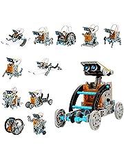 Ulikey Robot a Energia Solare, Giocattoli Educativi Robot per Bambini, 12 in 1 Robot Construcktion Set per Ragazzi e Ragazze Regalo di Creativo, Giocattoli Esperimenti Scientifici