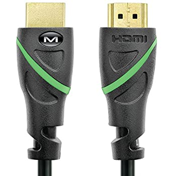 Mediabridge Flex Series HDMI Cable  1 Foot  Supports 4K@50/60Hz High Speed Hand-Tested HDMI 2.0 Ready - UHD 18Gbps Audio Return Channel