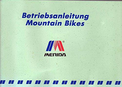Mountain Bikes Merida Betriebsanleitung