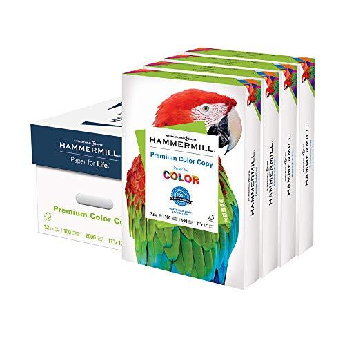 Hammermill Printer Paper, Premium Color 32 lb Copy Paper, 11 x 17 - 4 Ream (2,000 Sheets) - 100 Bright, Made in the USA, 102660C