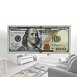 Alfombras Nuevas Un Centenar De Dólares, Alfombra De Corredor De Billetes De $ 100, Impresión De Billetes Alfombra De Área Antideslizante New Benjamin,Alfombras De Dinero Para Sala De Estar Dormitorio