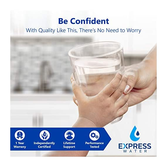 Express Water - ROALK5D Reverse Osmosis Alkaline Water Filtration System – 10 Stage RO Water Filter with Faucet and Tank… 7 Reverse Osmosis Water Filter: Experience what water should taste like with the Express Water reverse osmosis water filtration system removing up to 99. 99% of Lead, Chlorine, Fluoride, Nitrates, Calcium, Arsenic, Bacteria, and more Alkaline Water Filter: Express Water's Alkaline Water Filter with Active Mineral Technology adds Calcium, Potassium, Magnesium, and other minerals to your water Under Sink Water Filter: Don't waste money on professional installation. Express Water's quick and easy-to-understand design means you can install and understand everything about your new water filtration system