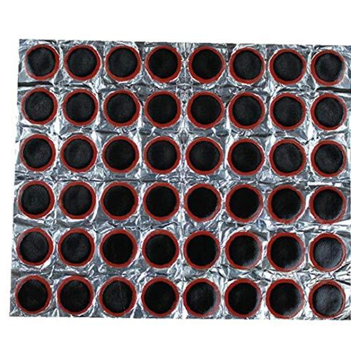 Lankater 48pcs Bicicletas De Remiendos De Goma del Neumático del Neumático De Reparación De Neumáticos Herramienta Tubo Neumático De La Bici Neumático Interior De Punción De Goma Parches