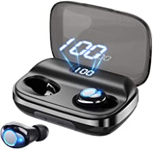 Bluetooth Earbuds GUSGU Wireless Earbuds Deep Bass Earphones Noise Cancelling Waterproof Wireless Bluetooth Headphones 145H Cycle Playtime(Auto Pairing,Binaural Call,4000mAh LED Display Charging Case)