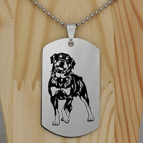 Collar Colgante De Perro De Acero Inoxidable Accesorios De Animales Regalo De Perro Regalo De Amante De Mascotas