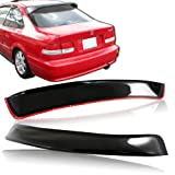 Black ABS Plastic Rear Window Roof Visor Spoiler Compatible with 1996-2000 Honda Civic Coupe
