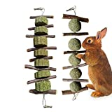 <span class='highlight'><span class='highlight'>Xiluck</span></span> Rabbit Chew Toys for Teeth,Apple Sticks Pet Chew Toys,2pcs Natural Apple Sticks Rabbit Chew Toys Grass Cake and Ball Pet Teeth Chewing Toy for Bunny Chinchilla Hamsters Parrots