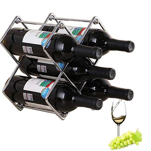 Small Wine Rack, Wine Bottle Holder, 5 Wine Bottles Holder, Modern Wine Racks Countertop, Countertop Wine Rack Metal, Small Wine Rack, Wine Bottle Holder (Silver)