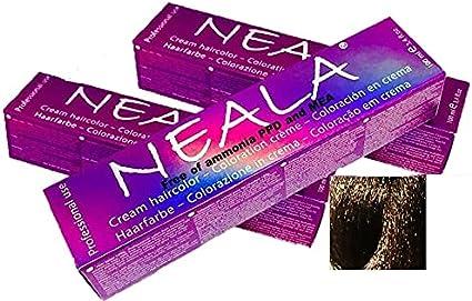 Pack 3 N6-Tintes de pelo profesional sin amoniaco, PPD ni MEA. Neala coloración permanente - 3 x 100ml. (06- RUBIO OSCURO NATURAL))