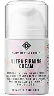 ASDM Beverly Hills Ultra Firming Cream 2oz 60ml, w/Coenzyme CoQ10, Hyaluronic Acid, Anti-Aging, Face Neck Tightening, Reduce Wrinkle, Sagging Skin, Boost Hydration, Even Skin Tone, Fight Free Radical
