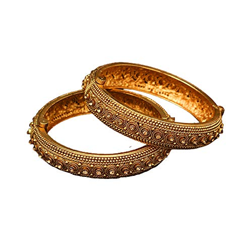 55Carat Bangle Bracelet Intricately Gold Plated for Women and Girls Set of two-K 2022-6-2.37