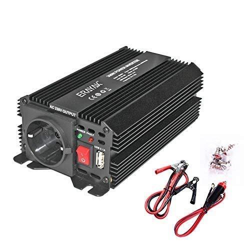 ERAYAK 300W/600W 12V auf 230V Volt kfz Spannungswandler Wechselrichter Power Solar Inverter DC AC Umwandler Stromwandler Fahrzeuge Wohnwagen Auto Modifizierte Sinus Sine Wave Autoladegerät