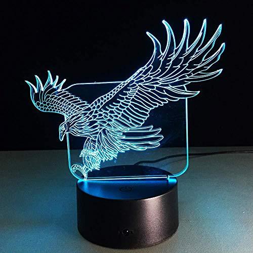 Vlinderige adelaarsvormige nachtlampjes gekleurde adelaar, tafellampen, kantoor, hotel, slaapkamer, bar, illusie, 16 kleuren, nachtlampje, 3D led, illusie, licht, 16 kleuren, op afstand bediend, dimensioneel licht, optisch naad