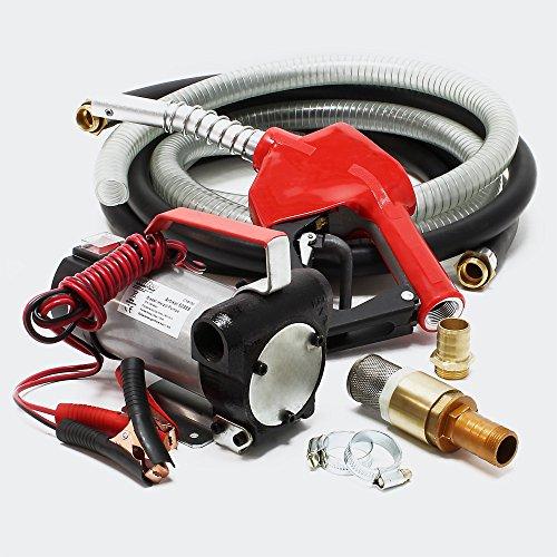 Pompa autoadescante per biodiesel e nafta 12V/10W 40 l/min Pistola automatica Pompa trasferimento