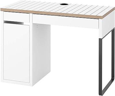 Escritorio IKEA MICKE 105x50x75 cm blanco/antracita: Amazon ...